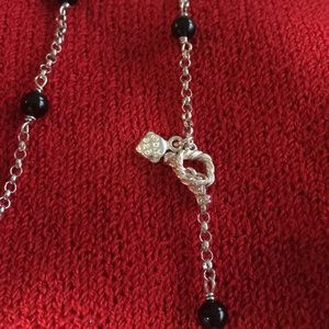DAVID YURMAN Jewelry - DAVID YURMAN sterling chain w  black onyx beads.